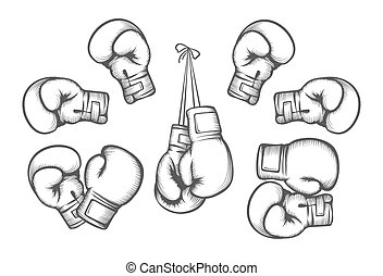 Boxing gloves vector - Boxing gloves. Equipment for fight...
