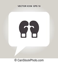 boxing gloves vector icon