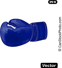 Boxing gloves vector illustration cubism