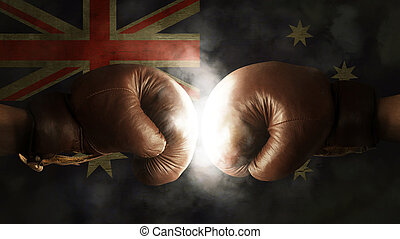 Boxing Gloves with the Flag of Australia
