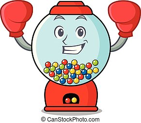 Boxing gumball machine character cartoon