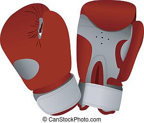 boxing handschoenen, rood