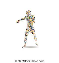 Boxing icon vector illustration.
