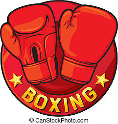 boxing label (boxing symbol, boxing design)