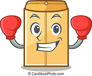 Boxing mailer envelope in the character shape