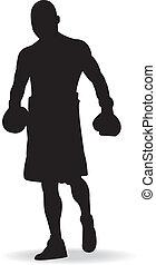 Boxing men, vector illustration.