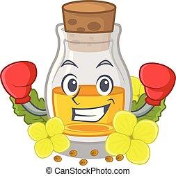 Boxing mustard oil packaged in carton bottle