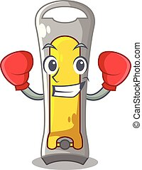 Boxing nail cutter shape on a cartoon