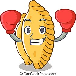 Boxing pastel character cartoon style vector illustration