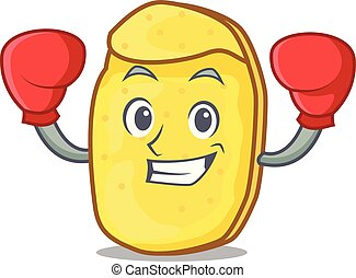 Boxing potato chips character cartoon