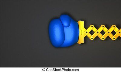 Boxing punch toy - Boxing glove punch toy. Matte