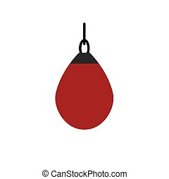 boxing punching bag icon