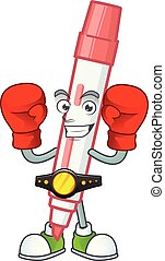 Boxing red white board marker in cartoon