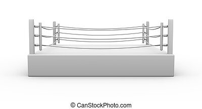 Boxing ring - 3D Illustration. Isolated on white.