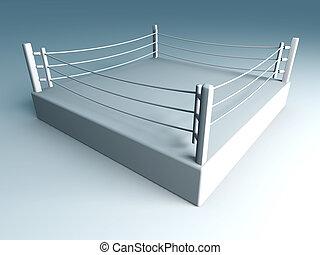 Boxing ring - 3D rendered Illustration.