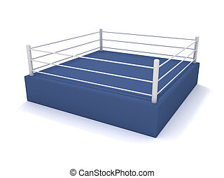 Boxing ring - 3D rendering of a boxing ring