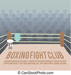 Boxing ring background - Box fight club background with ring...