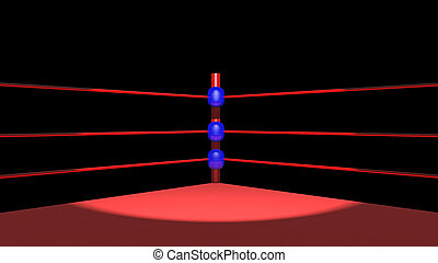 Boxing ring - Computer generated 3D illustration with a...