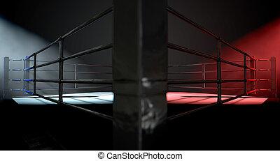 Boxing Ring Opposing Corners
