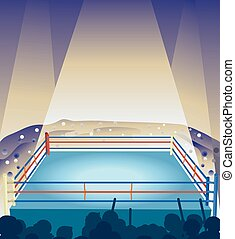 Boxing Ring Spectator Cheer - Illustration of an Empty ...