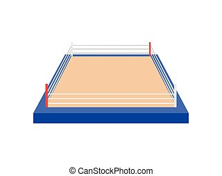 Boxing ring. View from above. Vector illustration on white background.