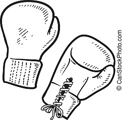 Boxing sketch - Doodle style boxing illustration in vector...