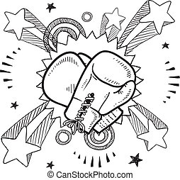 Boxing sketch - Doodle style illustration boxing in vector ...