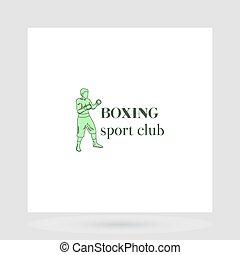 Boxing sport club logo design