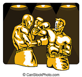 Boxing sport - Illustration on the sport of boxing