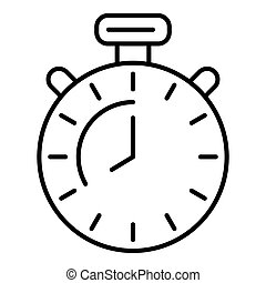 Boxing stopwatch icon, outline style