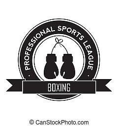 boxing symbol on white background