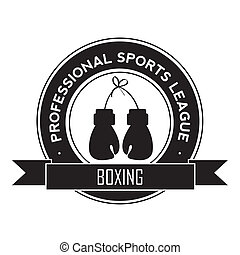 boxing symbol on white background