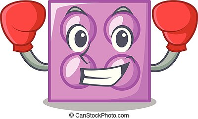 Boxing toy brick character cartoon