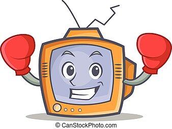 Boxing TV character cartoon object