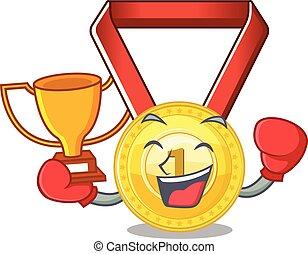 Winner gold medal seal.