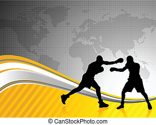 boxing world championship background