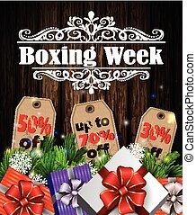 boxning, etikett, dag