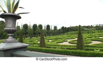 Boxwood garden at Frederiksborg Palace, Denmark