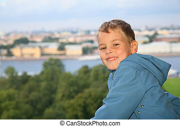 Boy against St.Petersburg