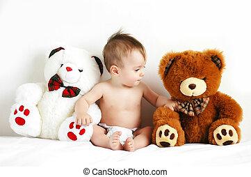 Boy and bears