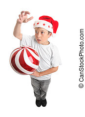 Boy and Christmas Bauble
