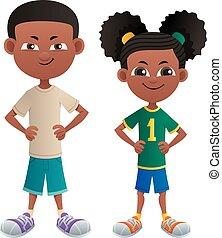 Boy and Girl Black