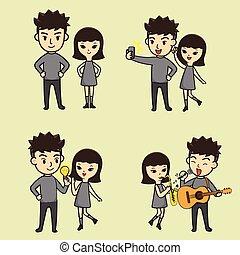 Boy And Girl Cartoon character