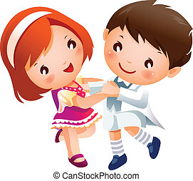 Boy and Girl dancing