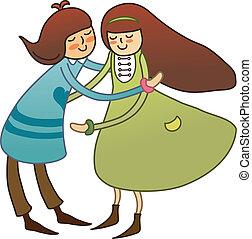 Boy and Girl Embracing  - Boy and Girl Embracing