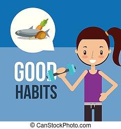 boy and girl healthy good habits