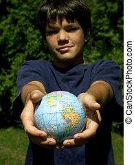boy and globe #4