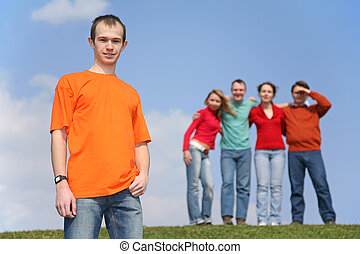 boy and group of friends