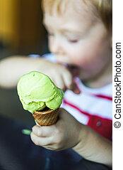 boy and ice-cream