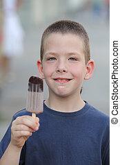 Boy and ice cream